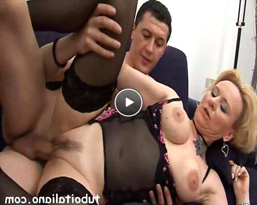 free cum older women video